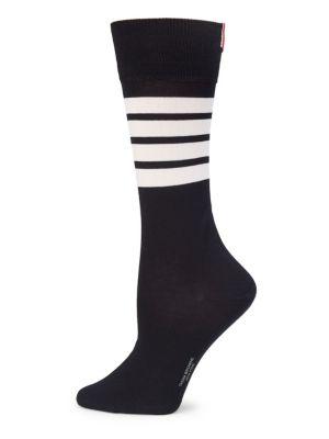 Logo Stripe Mid-Calf Socks