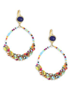 Seed Bead Gypsy Hoop Earrings