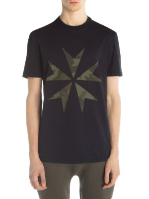 NEIL BARRETT Camo Star T-Shirt