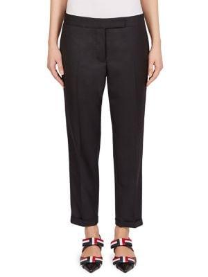 Low-Rise Twill Stripe Pants