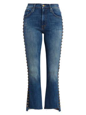 Insider Frayed Step-Hem Jeans