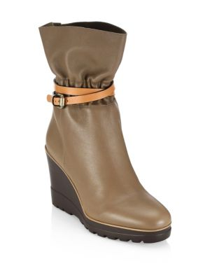 Robin Leather Wedge Boot