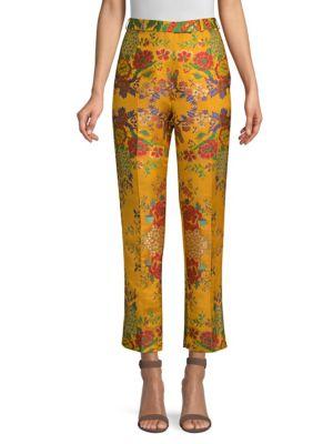 Floral Jacquard Pants