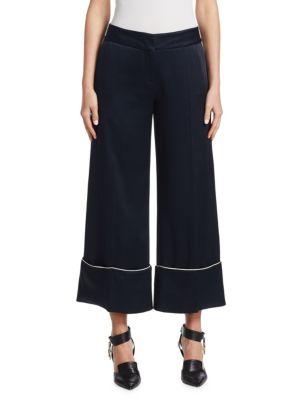 Wide-Leg Pajama Pants