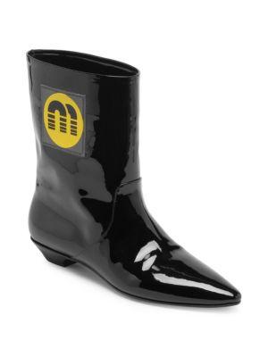 Patent Mid-Calf Boots