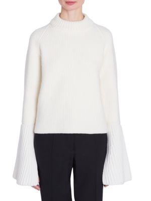 Wool & Cashmere Flare Cuff Sweater