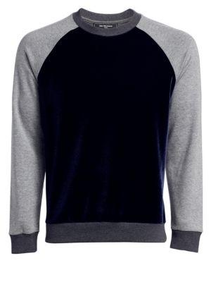 MODERN Velvet Colorblock Sweatshirt