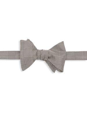 Prince of Wales Silk Plaid Bow Tie