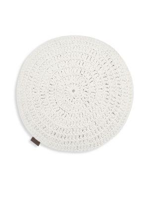 Round Crochet Cotton Pillow