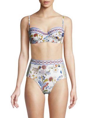 Meadow Folly Printed Bikini Top