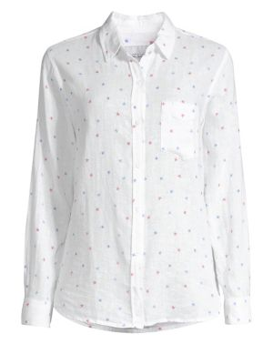 Charli Star Print Button-Down Shirt