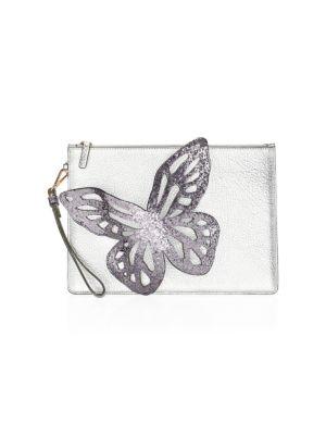 Flossy Glitter Butterfly Pouchette