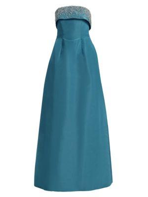 CATHERINE REGEHR Doris Day Strapless Silk Gown