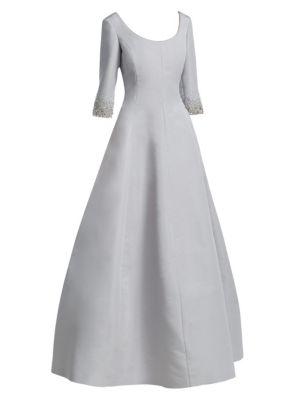 CATHERINE REGEHR Van Der Rohe Fit-&-Flare Silk Gown