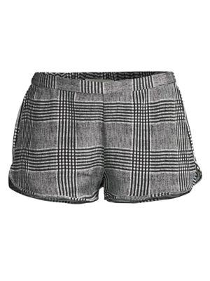 Black & White Plaid Shorts