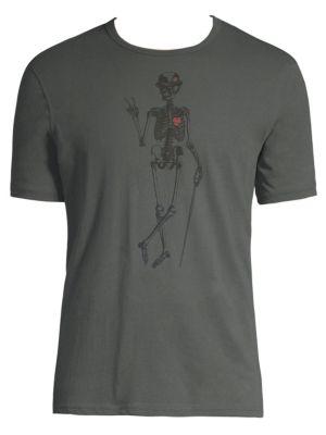 Skeleton Peace Graphic Cotton Tee