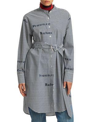 PROENZA SCHOULER Belted Stripe Shirtdress