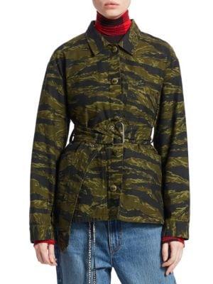 PROENZA SCHOULER Camo Belted Jacket