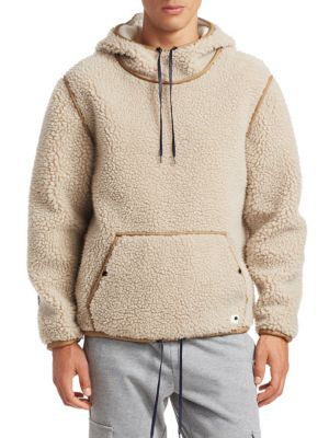 Sherpa Popover Hoodie, Marshmallow