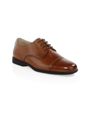 Kid's Reveal Leather Cap-Toe Shoes