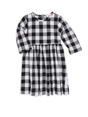 Little Girl's Buffalo Check Winnie Cotton Dress