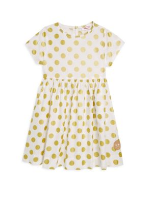 Little Girl's Polka Dot Cotton Sunday Dress