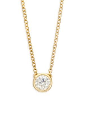 HEARTS ON FIRE 18K Yellow Gold & Diamond Pendant Necklace