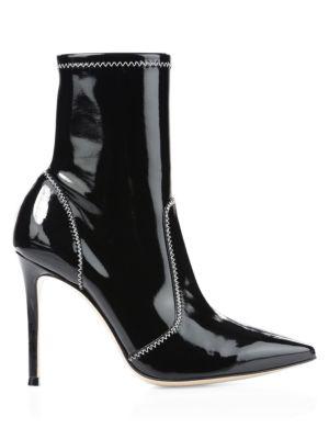Sequin Vinyl Mid-Calf Boots
