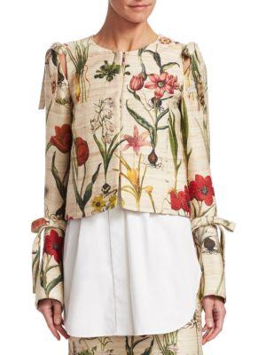 Harvest Floral Cropped Jacket