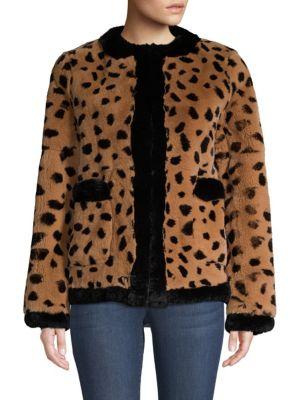POLOGEORGIS Leopard Rabit Fur Jacket