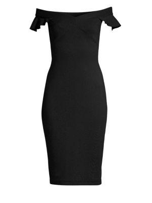 East Indies Off-The-Shoulder Dress