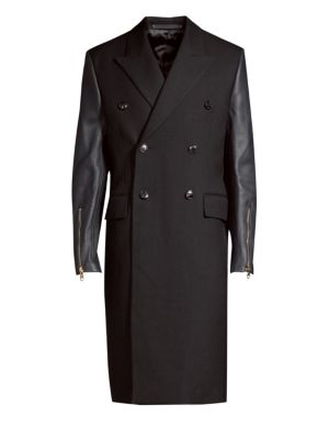 Wool & Leather Coat