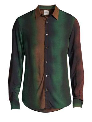 Degrade Stripe Button-Down Shirt