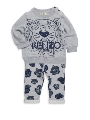 Baby Boy's Tiger Sweater & Joggers Two-Piece Set