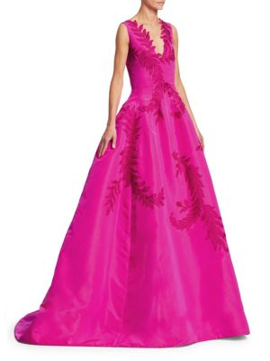 Embroidered Appliqué Ball Gown