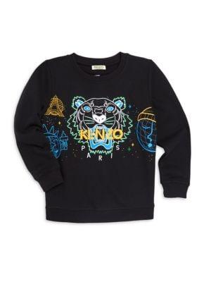 Little Boy's & Boy's Tiger Sweater