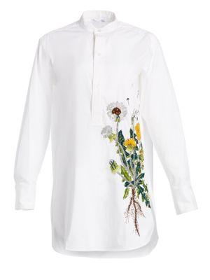 OSCAR DE LA RENTA Embellished Dandelion Blouse