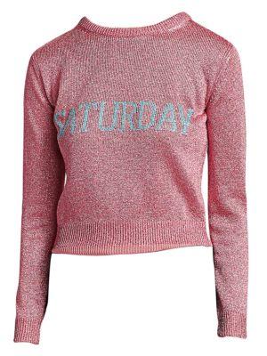 Rainbow Week Capsule Days Of The Week Saturday Lurex Sweater