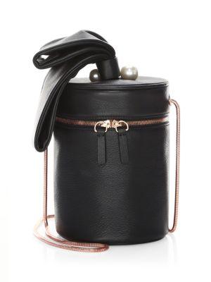 Bonnie Faux Pearl Cylinder Crossbody Bag