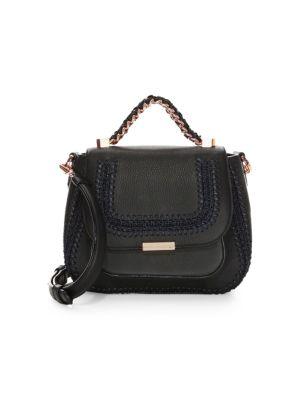 Eloise Leather Whip-stitch Shoulder Bag