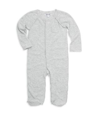 Baby Girl's Ribbed Coverall Sleeper