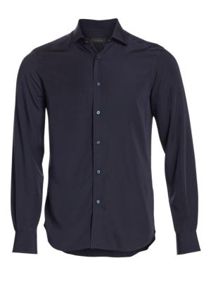 COLLECTION Solid Tencel Cotton Shirt