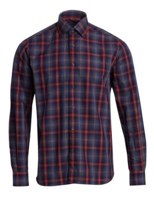 Cotton Plaid Sportshirt