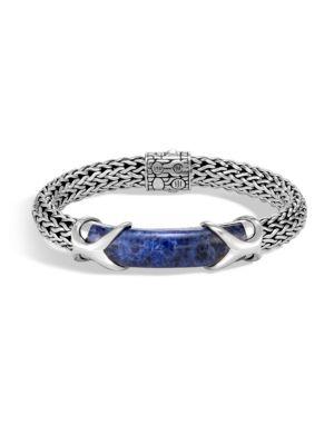Classic Lapis Lazuli & Silver Chain Bracelet