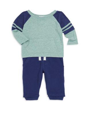 Baby Boy's Raglan Sleeve Top and Joggers Set