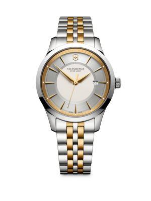 VICTORINOX SWISS ARMY Alliance Two-Tone Stainless Steel Bracelet Watch