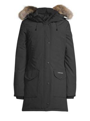 CANADA GOOSE Trillium Fur-Trimmed Parka in Black