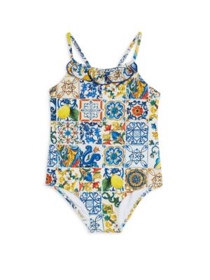 Little Girl's & Girl's One-Piece Print Swimsuit