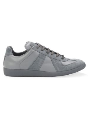 Replica Leather Low-Top Sneakers