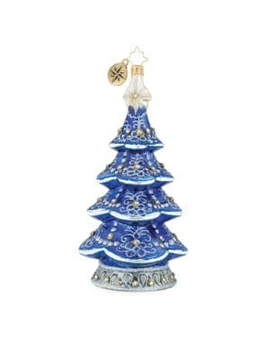 Euroglass True Blue Tree Treasure Ornament